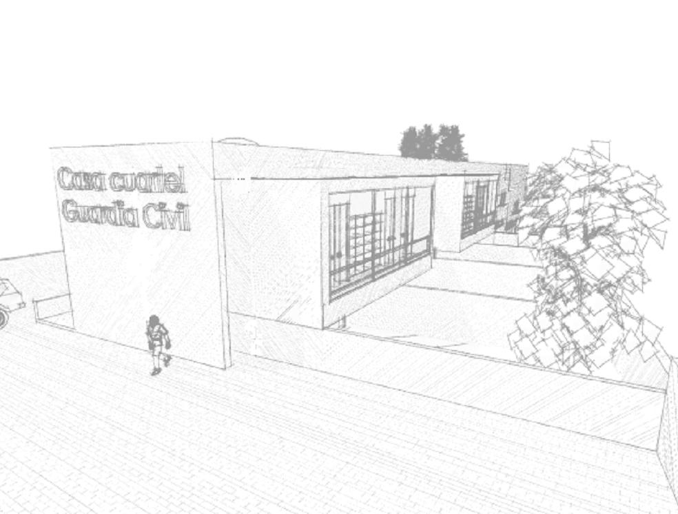 Cuartel de la Guardia Civil en Castro Caldelas